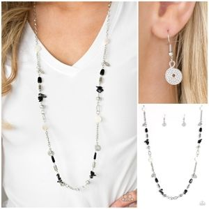 Paparazzi Ocean Bliss Black Necklace Set